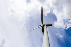Day view wind power turbines generate electricity Stock Photos