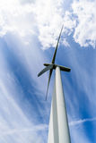 Day view wind power turbines generate electricity Royalty Free Stock Images
