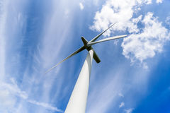 Day view wind power turbines generate electricity Stock Photography