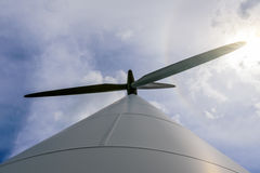 Day view wind power turbines generate electricity Stock Photo