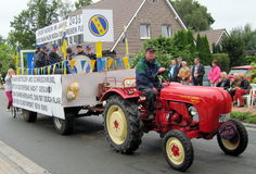 Day of a village in North Germany. Kettenkamp is 825 years old. Parade of citizens. Royalty Free Stock Photography