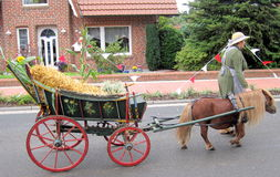 Day of a village in North Germany. Kettenkamp is 825 years old. Parade of citizens. Royalty Free Stock Photo