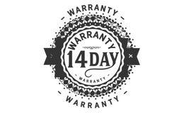 14 day warranty design,best black stamp. Illustration royalty free illustration