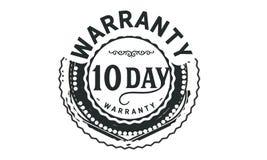 10 day warranty design,best black stamp. Illustration vector illustration