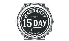 15 day warranty design,best black stamp. Illustration vector illustration