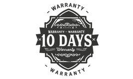 10 day warranty design stamp. Badge icon royalty free illustration