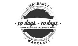 10 day warranty design,best black stamp. 10 day warranty design stamp badge icon vector illustration