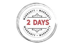 1 day warranty icon vintage. Rubber stamp guarantee Royalty Free Stock Image