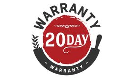20 day warranty illustration design stamp. Badge icon vector illustration