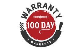100 day warranty illustration design stamp. Badge icon stock illustration