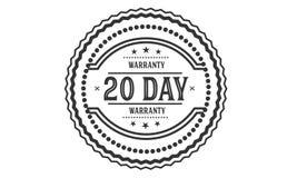 20 day warranty illustration design stamp. Badge icon stock illustration