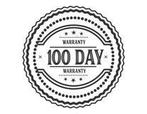 100 day warranty illustration design stamp. Badge icon vector illustration