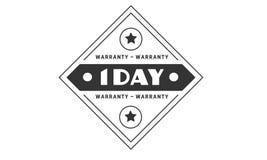 1 day warranty illustration design stamp badge icon. 1 day warranty illustration design stamp badge illustration icon vector illustration