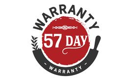 57 day warranty illustration design stamp. Badge icon royalty free illustration