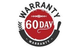 60 day warranty illustration design stamp. Badge icon royalty free illustration