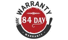 84 day warranty illustration design stamp. Badge icon stock illustration