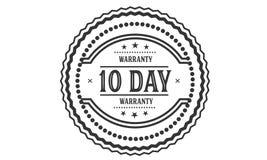 10 day warranty illustration design stamp. Badge icon stock illustration