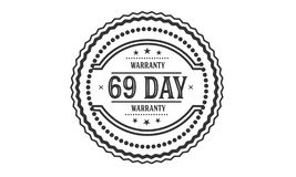 69 day warranty illustration design stamp. Badge icon royalty free illustration