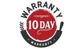 10 day warranty illustration design stamp. Badge icon quote illustration vector illustration