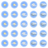 Day weather icon set Stock Images