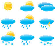 Day weather icons. Vector illustration Stock Images