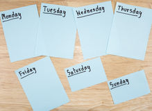Day in the week 2 Royalty Free Stock Images