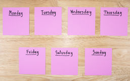 Day in the week 1 Royalty Free Stock Images