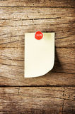 Day of week Sticky note with pin over wooden background Royalty Free Stock Image