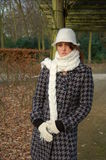 day wintry woman young Στοκ εικόνα με δικαίωμα ελεύθερης χρήσης