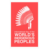 Day of Worlds Indigenous Peoples poster Royalty Free Stock Photography