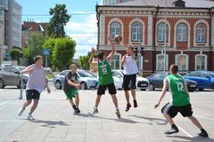 Day of youth, Tyumen. Basketball competitions  Royalty Free Stock Photo