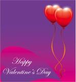Day1 de la tarjeta del día de San Valentín feliz Fotos de archivo libres de regalías