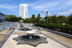 Dayabumi Complex and Courtyard of National Mosque. Stock Photos