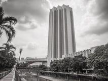 Dayabumi Complex KL, Malaysia. KUALA LUMPUR, MALAYSIA - NOVEMBER 14, 2014: Dayabumi Complex. It is one of the earliest skyscrapers in KL. The facade of the tower stock photo