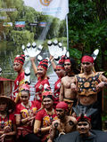Dayak clothes Stock Images