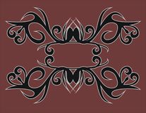 Dayak tribe motif royalty free stock images