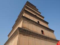 Dayan torn i Xi'an Fotografering för Bildbyråer