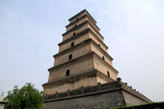 Dayan tower , Big Wild Goose Pagoda Royalty Free Stock Photography
