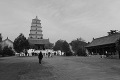 Dayanta tower, black and white image Stock Images