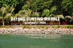 Dayang-Flaggen-Marmor Geoforest-Park stockfotografie