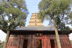Dayanta-Turm in daciensi Tempel, luftgetrockneter Ziegelstein rgb Lizenzfreie Stockbilder