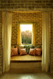 Daybed area- Tuscan style Royalty Free Stock Photos