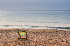 Daybed on the beach with blue sea, Thailand Royalty Free Stock Photos
