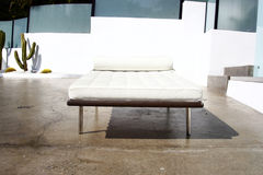 Daybed in driveway Royalty Free Stock Photos