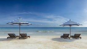 Daybed na plaży Zdjęcie Royalty Free