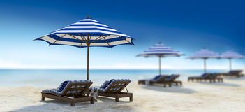 Daybed na plaży Obrazy Royalty Free