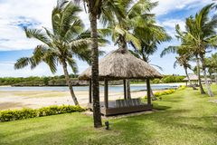 Free Daybeds In Luxury Resort In Tropes Stock Photo - 115993910