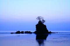 Daybreak at the Amaharashi coast. In Japan royalty free stock photography