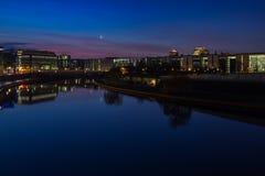 Daybreak in Berlin. Daybreak at Spree river in Berlin Stock Image