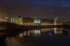 Daybreak in Berlin. Daybreak at Spree river in Berlin Royalty Free Stock Image